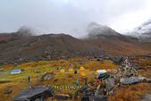 Tents in Annapurna Base Camp, Nepal — Foto Stock