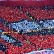 Постер, плакат: Crowd of soccer fans in the stadium