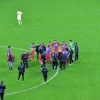 Постер, плакат: End of te soccer macth Steaua Bucharest won against Dinamo