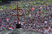 Catholic pilgrimage — Stock Photo