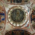 Georgian orthodox monastery interior with very old murals — Stock Photo #8413341