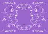 Abstract lilac floral ornament — Stock Vector