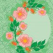 Abstract roses frame — Stock Vector