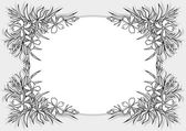 Abstract flowers frame — Stock Vector