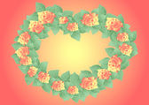 Frame from abstract roses — Stockvector