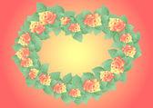 кадр из абстрактных роз — Cтоковый вектор