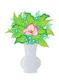 Resumen de flores en jarrón — Vector de stock