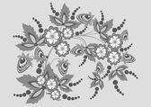 Abstract floral branch — Stock Vector
