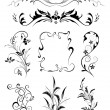 Floral ornament collection — Stock Vector