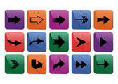 Coleção de sinal de seta — Vetorial Stock