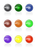 Set of abstract glass buttons — Stock Vector
