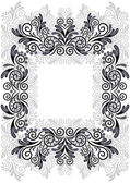 Abstract floral frame — Stockvector