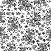 Naadloze floral achtergrond — Stockvector
