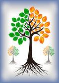 абстрактное дерево — Cтоковый вектор