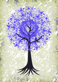 Abstract tree with background — Stok Vektör