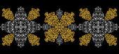 Abstraktní zlatý a stříbrný ornament — Stock vektor