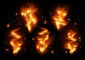 Tongues of flame background  — Stockvector