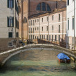 Stock Photo: Small bridge in Sestiere Castello