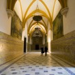 Vaulted hall in the Alcazars — Stock Photo