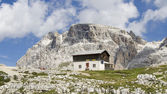 Shelter in the Dolomites — Stock Photo