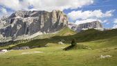 Sella mountain pass — Stock Photo