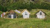 Gräs hyddor i island — Stockfoto