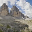 Tre Cime di Lavaredo Panorama — Stock Photo