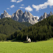 Santa Maddalena di Funes — Stock Photo