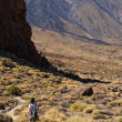 Hiker in Teide National Park — Stock Photo