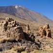 Rock formations and Mount Teide — Stock Photo