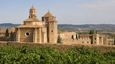 Monastic site of Poblet — Stock Photo