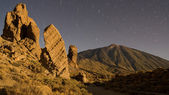 Mount Teide by night — Stock Photo