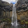 Stock Photo: Svartifoss waterfall