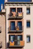 Banderas de la independencia catalana — Foto de Stock