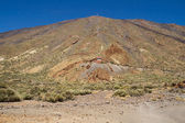 Mount Teide and its cable car — Stock Photo