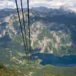 Lake Bohinj from Vogel — Stock Photo