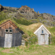 Grass roof sheds — Stock Photo