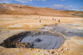 Boiling mud pools in Iceland — Stock Photo