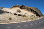 Volcanic strata — Stock Photo