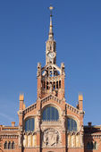 Clock tower of Hospital de Sant Pau — Stock Photo