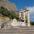 Doric columns in Delphi — Stock Photo