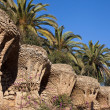 Promenade of the Palms, Park Guell — Stock Photo