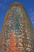 Torre Agbar skyscraper — Stock Photo