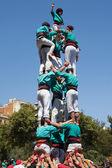 Castellers of La Sagrada Familia — Stock Photo