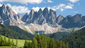 The Geisler peaks — Stock Photo