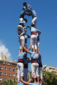 Castellers of Poble Sec — Stock Photo