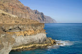 Volcanic coast of Teno — Stock Photo