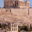 Stock Photo: Parthenon and Odeon of Herodes