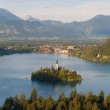 Panorama of Lake Bled — Stock Photo
