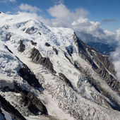 Bossons and Taconnaz Glaciers — Stock Photo